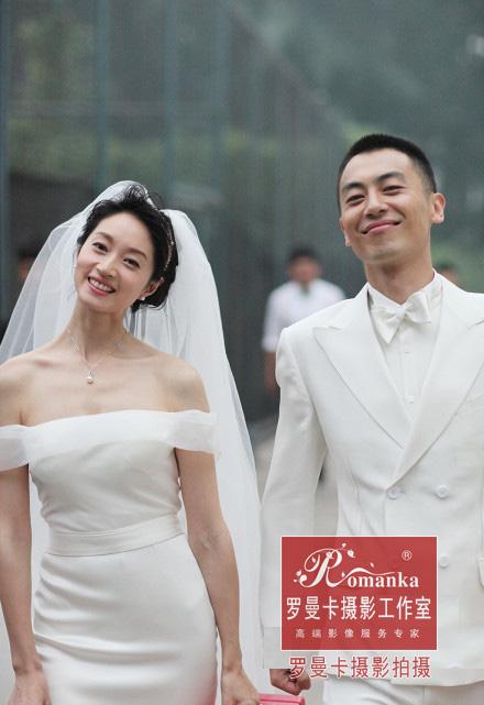 沈佳妮朱亚文婚纱照