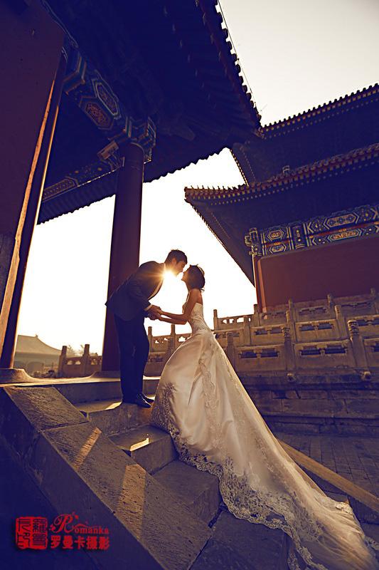 拍摄婚纱照