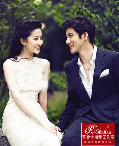 刘亦菲婚纱照