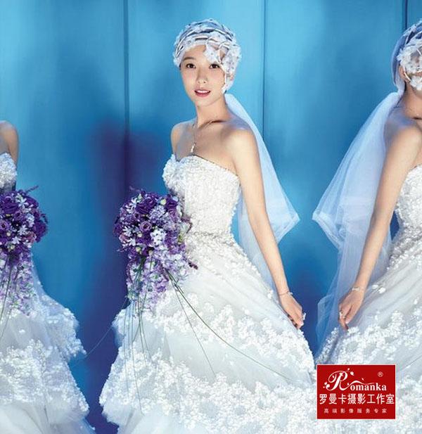王珞丹婚纱照