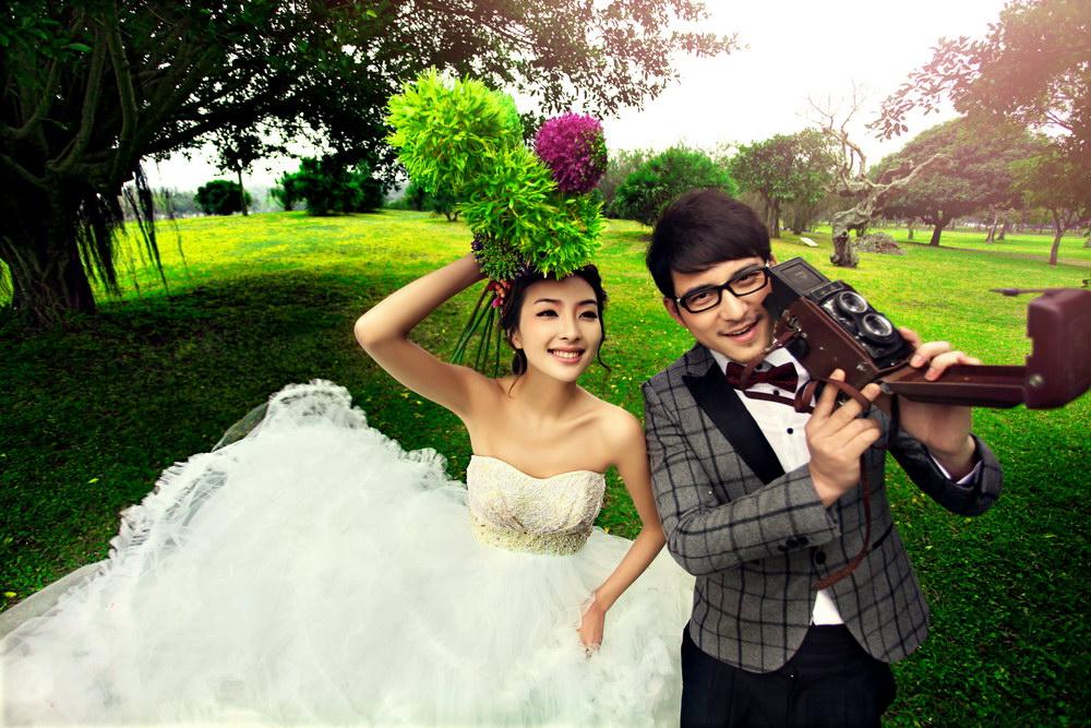 运动型婚纱照