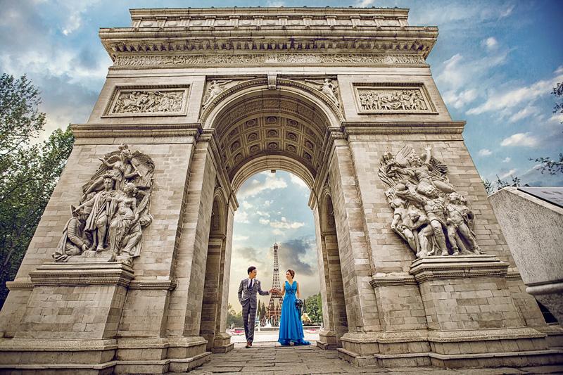 世界公园婚纱照